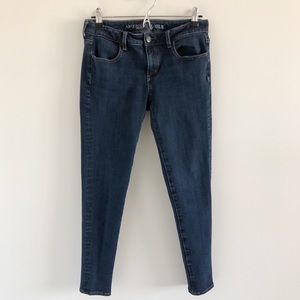 American Eagle Jegging Stretch Skinny Blue Jeans 8